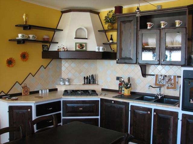 Cucine finta muratura roma ante e telai legno massello falegnameria roma lavorazioni - Cucine in muratura progetti ...